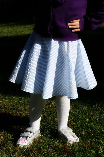 seersucker circle skirt 1