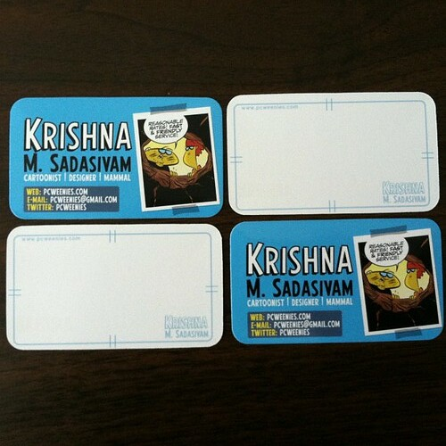 my new business cards came in!