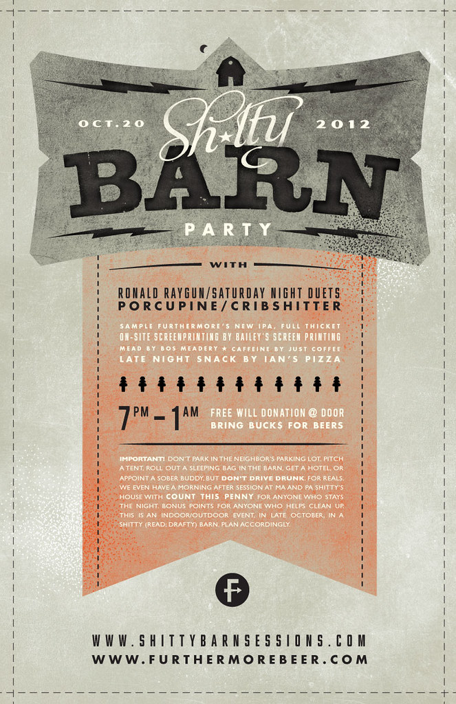 2012 Shitty Barn Party Poster