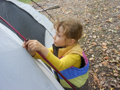 Clipping the Tent Poles