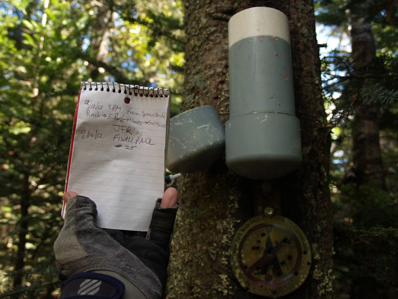 Canister and Peak Register on Southwest Hunter Mountain