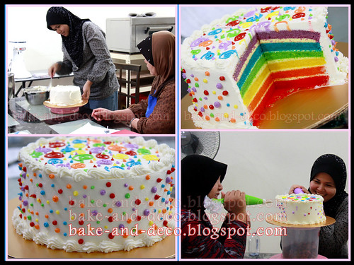 Baking Class: Italian Rainbow Cake + Lapis Cheezy + Tutty Fruity Cream Dessert ~ 19 May 2012