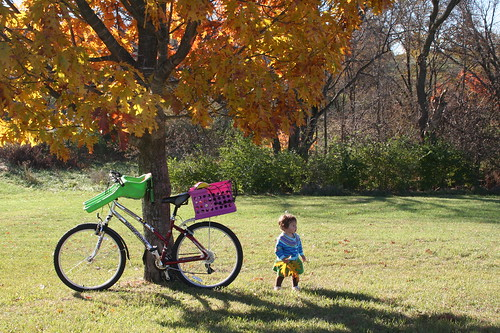 Fall bike ride with my daughter