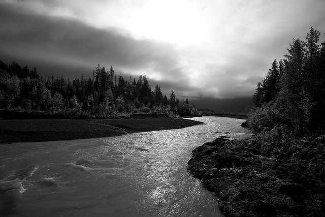 Backlit River