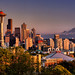 Clear Autumn Sunset, Seattle by Michael Riffle