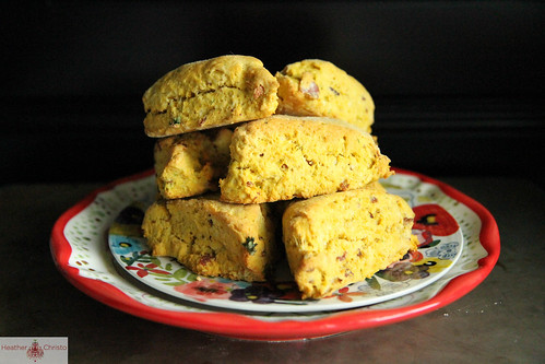 Butternut Squash Bacon Scones