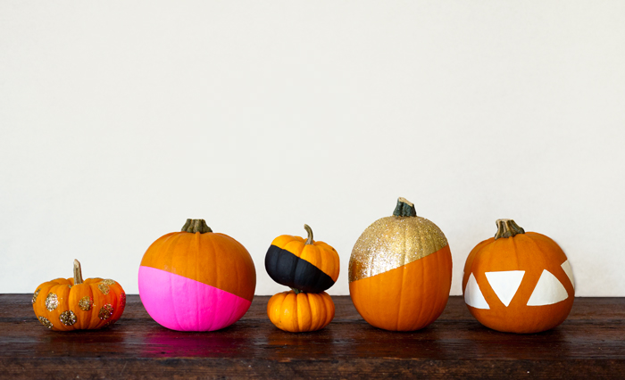 Modern Painted Pumpkins DIY