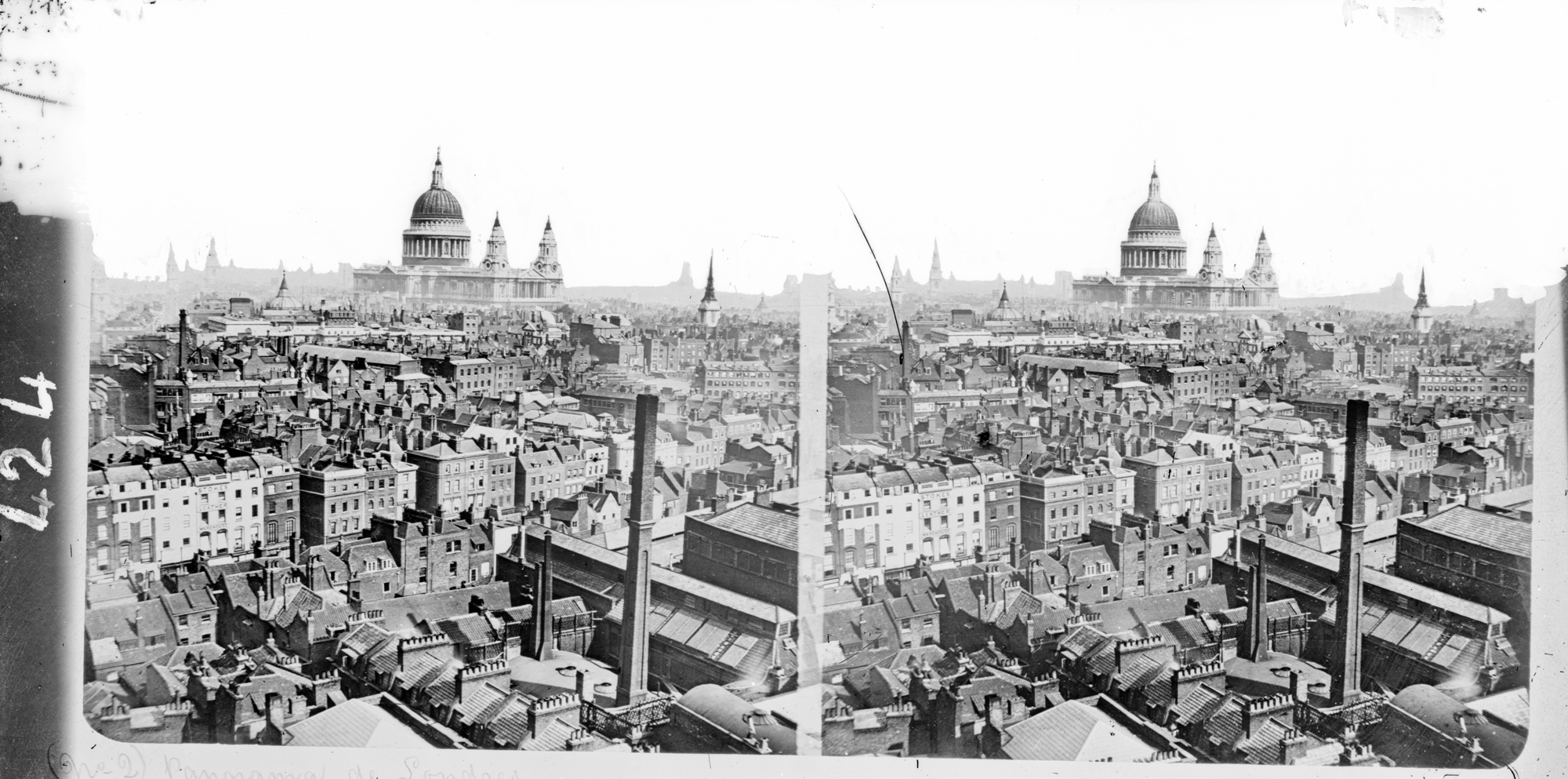 Full stereoscopic image of St. Paul's Cathedral, London