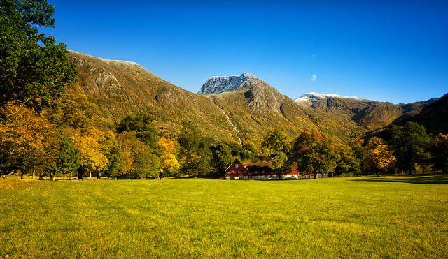 Scene from the Barony garden in Rosendal, Norway