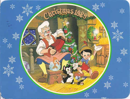 Disney Pinocchio Chrismas Card