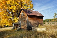 Autumn at the Historic (Martin Basch Farm) Port Oneida, Sleeping Bear Dunes National Lakeshore. by Michigan Nut