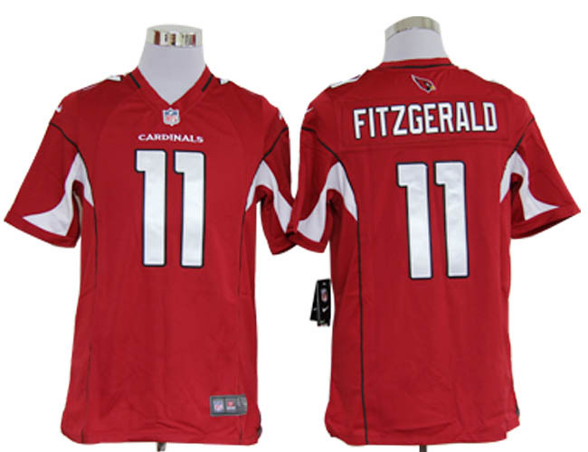 newest d5cad 10e92 Larry Fitzgerald Jersey Home Red Game Replica #11 Nike NFL ...