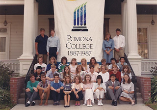 Tributes (new students with Pomona alumni parents and grandparents) in 1987. Photo courtesy of Mercedes Fitchett '91
