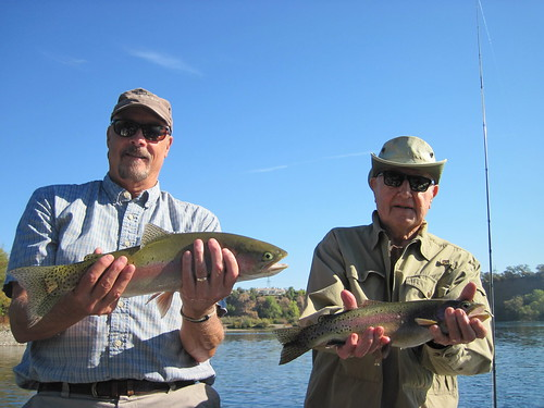 Father and son showing off one of many doubles