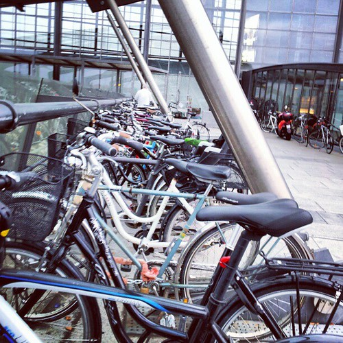 Cycle chic. Rode my bike to the airport. In style. #cyclechic bit.ly/VCuOHE