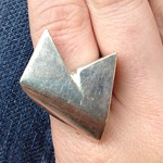 sterling ring from tag sale in Long Beach