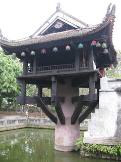 Image of  One Pillar Pagoda  near  Quận Ba Đình. vietnam
