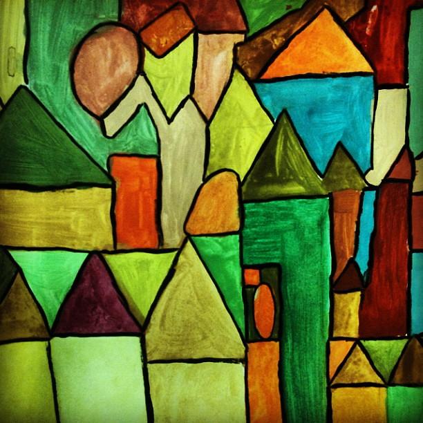 art kunst houses kubismus cube expressionismus flickr photo sharing. Black Bedroom Furniture Sets. Home Design Ideas