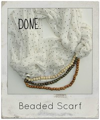how to make a beaded scarf