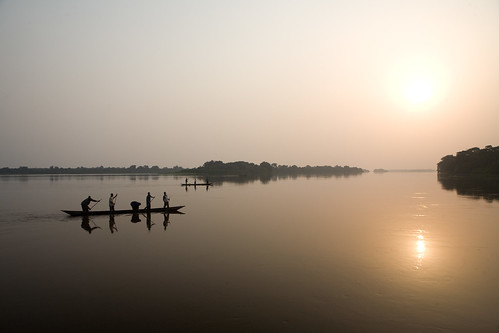 africa sunset water river landscape boat view scenic unitednations congo drc unphoto drcongo