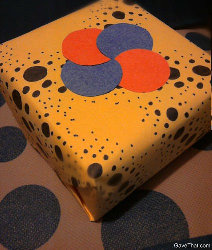 DIY Polka Dot Wrapping Paper inspired by Yayoi Kusama