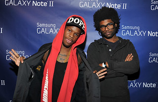 Kanye West ti french montana jennifer hudson childish gambeino kid cudi at the Samsung Galaxy Note II Launch Party