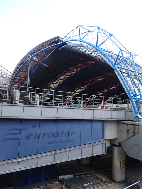 Old Eurostar sign and building at Waterloo