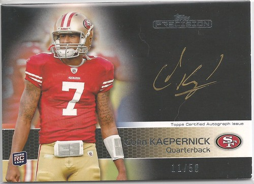 2011 Topps Precision Rookie Autographs Gold Ink #105 Colin Kaepernick (11 of 50)
