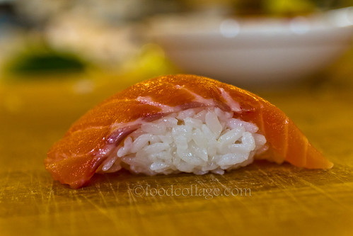 Salmon Nigiri at Sushi Class at Habitat