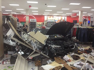 Car Crashes into Target Store, Injuring 3, 1 Critically