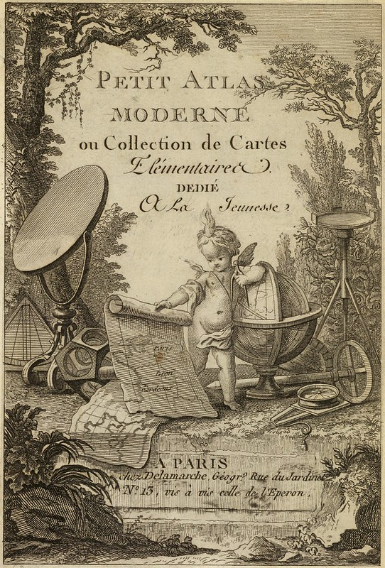 Petit atlas moderne ou collection de cartes elementaires dedie a la jeunesse 1800