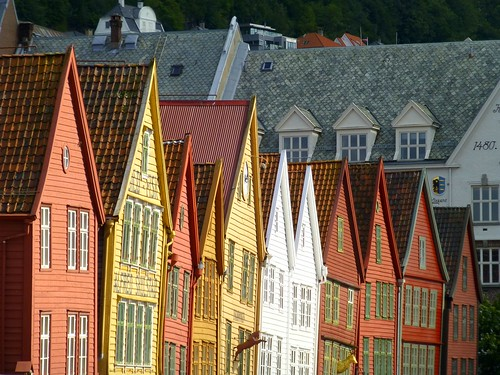 Bryggen, the old centre of Bergen, Norway (UNESCO WHS)