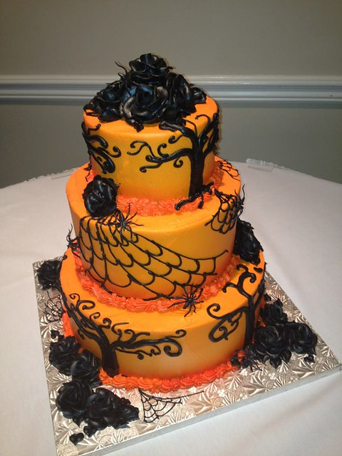 Halloween Orange Wedding Cake Flickr Photo Sharing