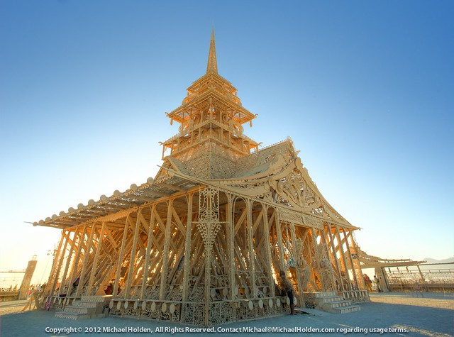 The Temple of Juno at sunrise, Burning Man  2012