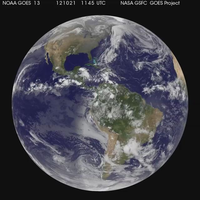 A Global View of Hurricane Sandy's Life [hd video]