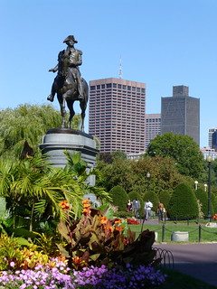 Image of George Washington Statue. city urban monument nature statue boston outdoors memorial massachusetts georgewashington publicgardens