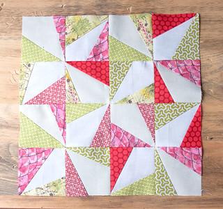 Wonky Pinwheel Quilt Block