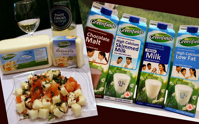 Greenfields mozzarella and milk products