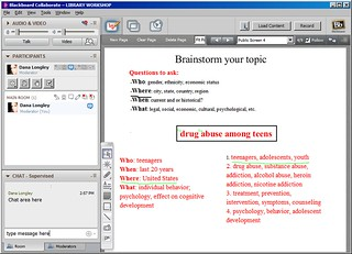 Screenshot of Collaborate software