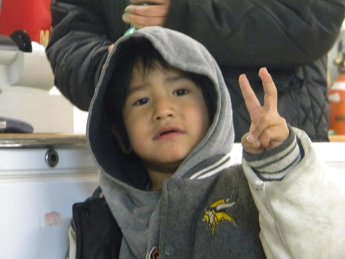 Sherry - Little Kid Flashing Peace Sign