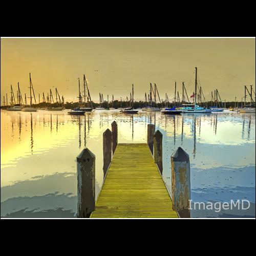 sailboat sunrise florida miami hdr posterize coconutgrove
