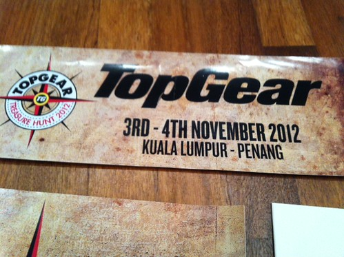 Motortakaful : I'm on Top Gear Treasure Hunt 2012 heading up to Penang!