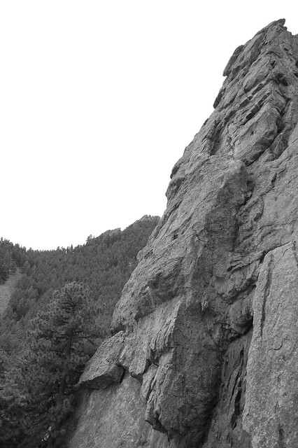 Climbing Wall - Hiking at Gregory Canyon Amphitheatre, Boulder, CO