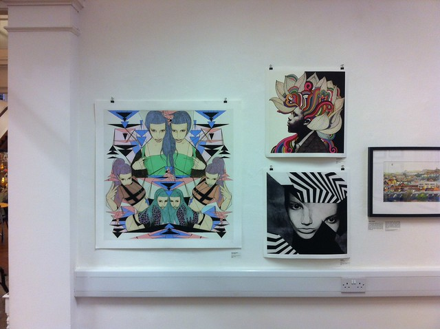 my work in LET ME ILLUSTRATE show @ Grandt Bradley Gallery in Bedminster, Bristol