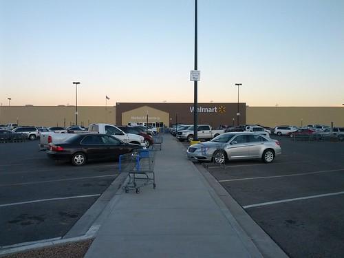 Small Wal-Mart Supercenter, in Socorro, Socorro County, New Mexico, USA.