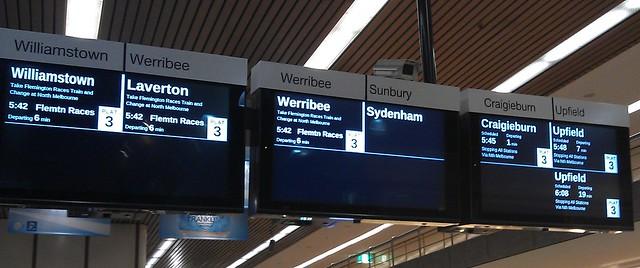 RRL Closure:在Flagstaff的屏幕上没有信息Sunbury / Sydenham线路