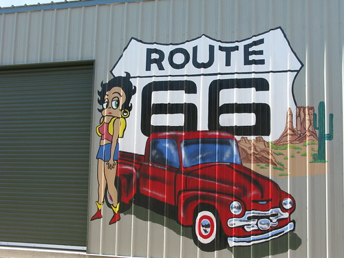 Betty Boop Mural on Route 66