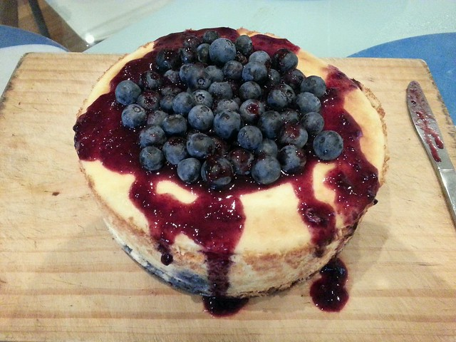 Fengs blueberry baked cheesecake | served warm from the oven ...