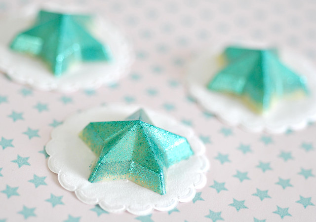 Glittered chocolate stars
