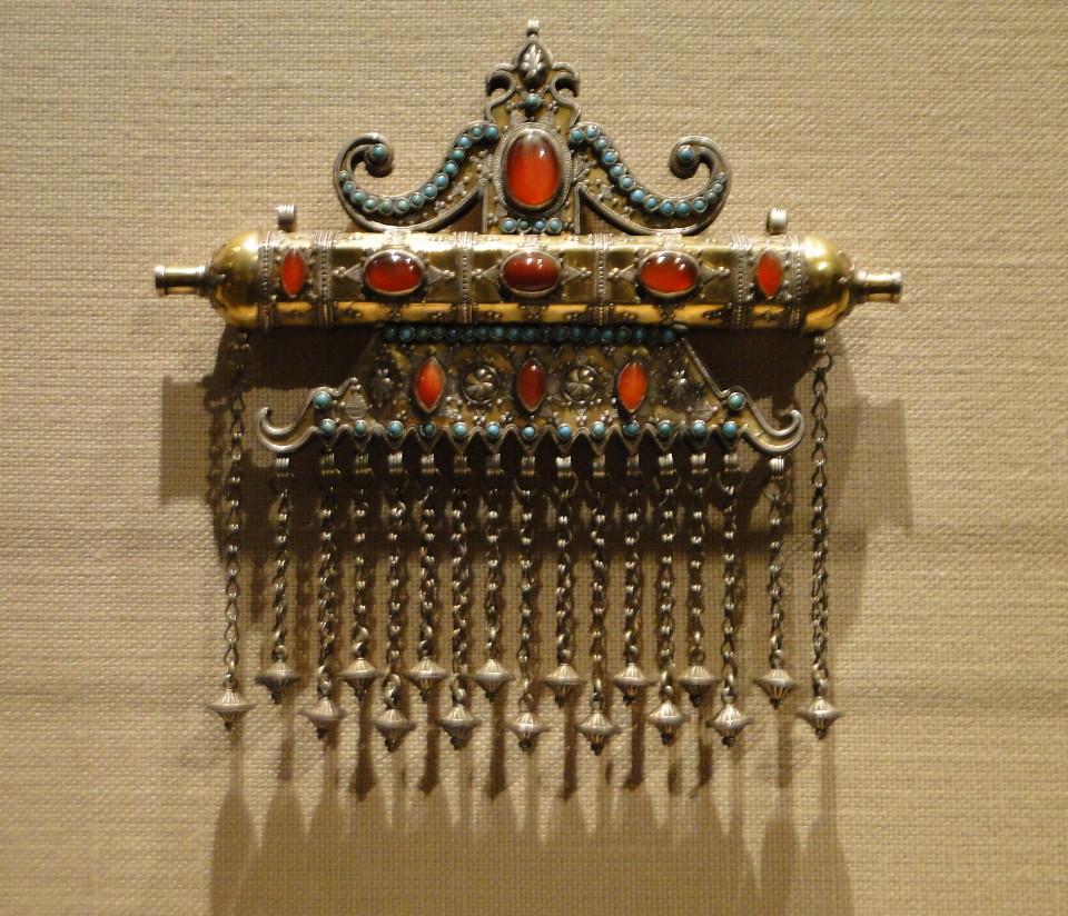 04 1j13_6263 triangular amulet holder Karakalpak Turkmen jewelry Metropolitan Museum ofArt